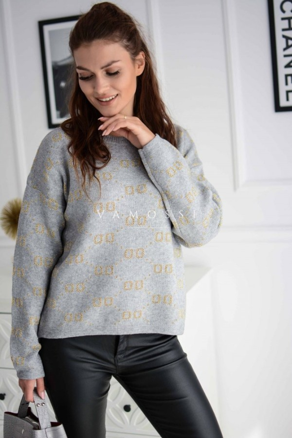 SWETER GOLD GREY