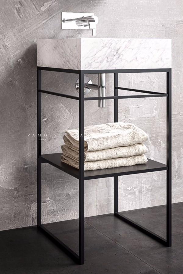 Konsola łazienkowa stelaż pod umywalkę loft